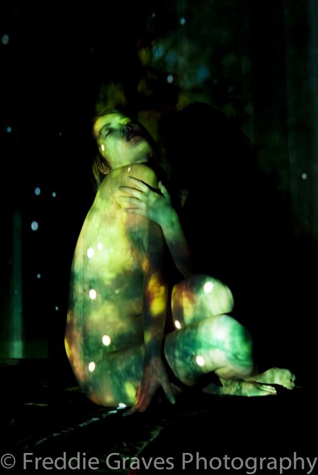 Green Ofelia Artistic Nude Photo by Artist Freddie Graves