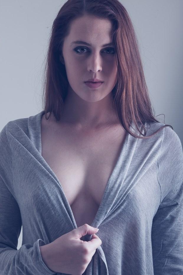 Grey Lady Sensual Photo by Model DianeNoir