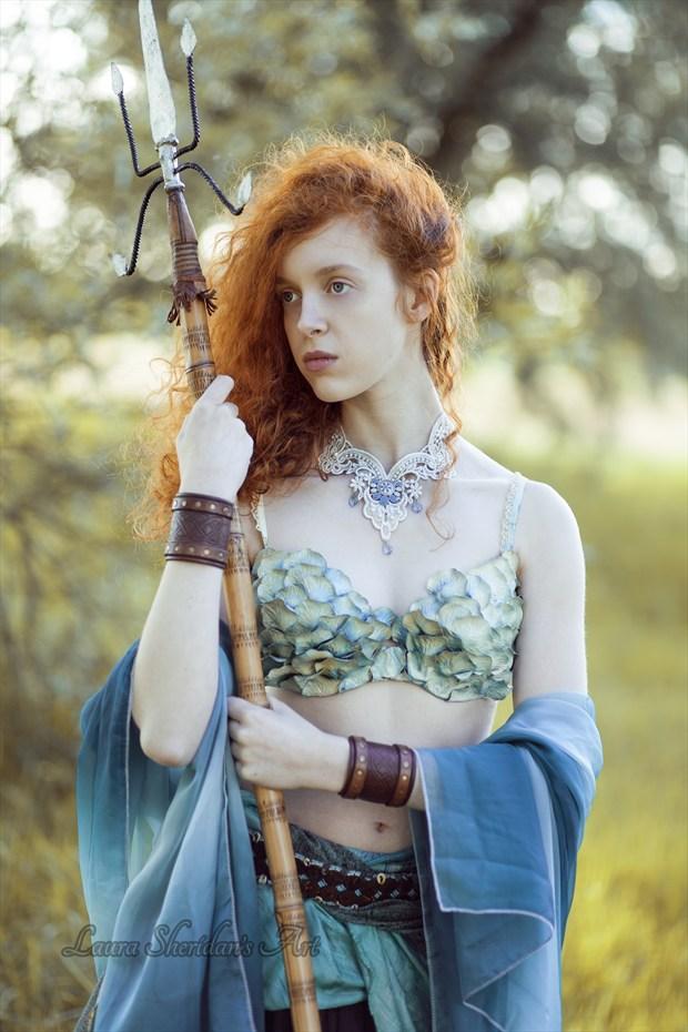 Guardian Of Atlantis Fantasy Artwork by Photographer Laura Sheridan's Art