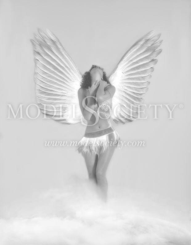 Guardian angel Fantasy Artwork by Model Ilse Peters