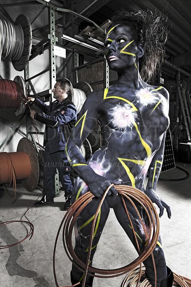 HIGH VOLTAGE II Fantasy Artwork by Artist Bodypaint D%C3%BCsterwald