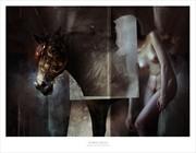 HORSE HEAD Artistic Nude Artwork by Artist Bastien Deharme