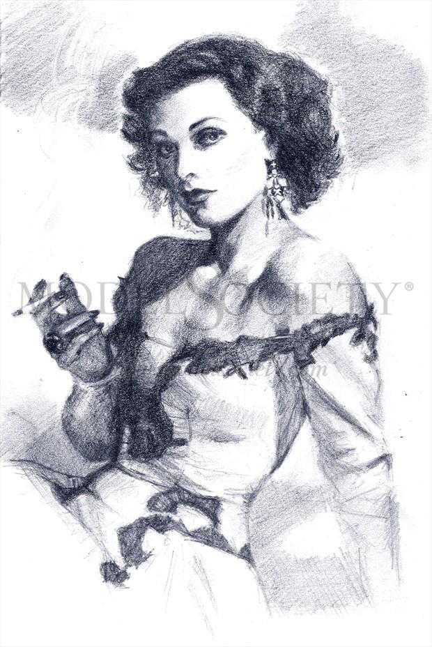 Hady Lamarr Glamour Artwork by Artist Diana Gali