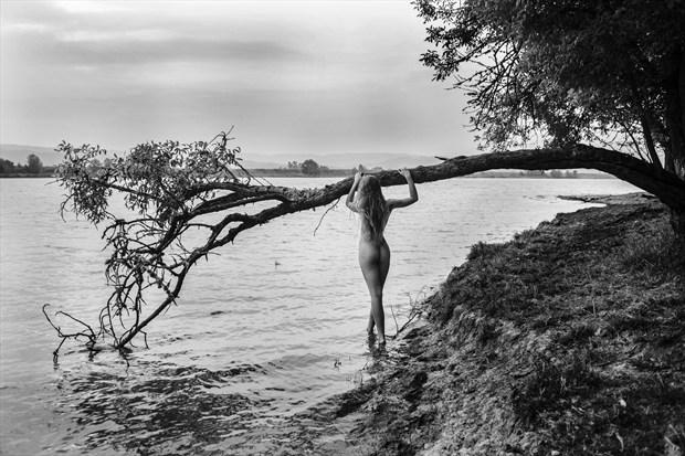Hailey at tree Artistic Nude Photo by Photographer Joe Klune Fine Art