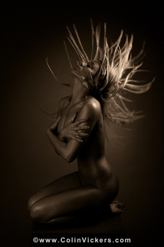 Hair Flair Artistic Nude Photo by Photographer Dr Colin Vickers