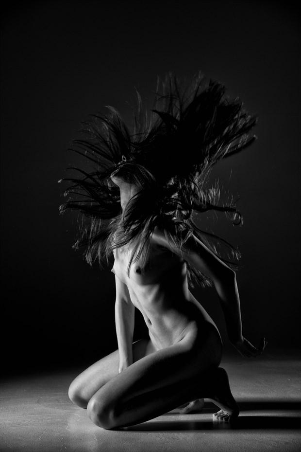 Hair Motion Artistic Nude Photo by Photographer MickeySchwartz