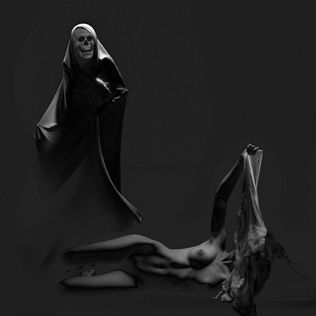 Halloween Chiaroscuro Photo by Artist jean jacques andre