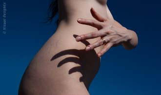 Hand Shadow on Torso Artistic Nude Photo by Photographer Visual Delights