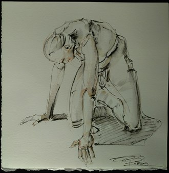 Hands and kneeds Artistic Nude Artwork by Model Michael SCM Model