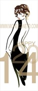 Happy 2014 Erotic Artwork by Artist Michel Canetti