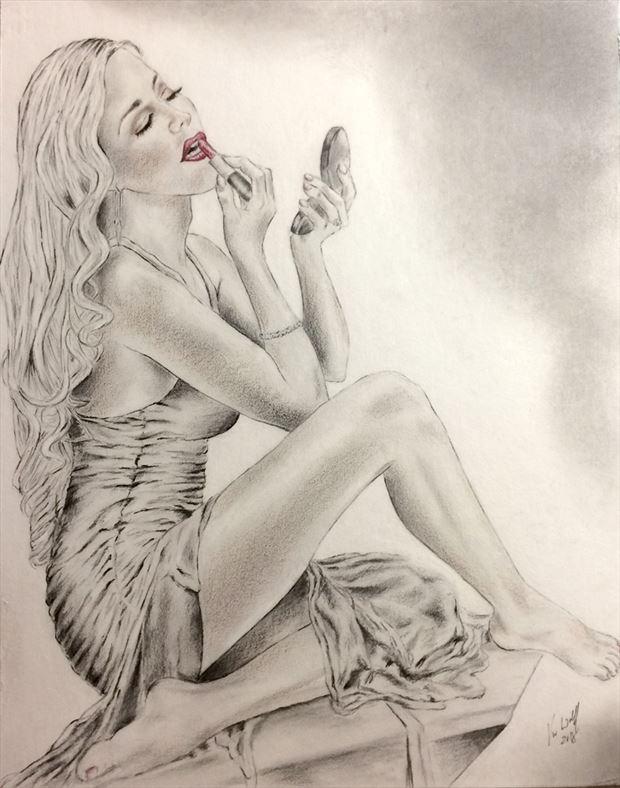 Heather Spytek Boudoir Sensual Artwork by Artist Vincent_Wolff_Art