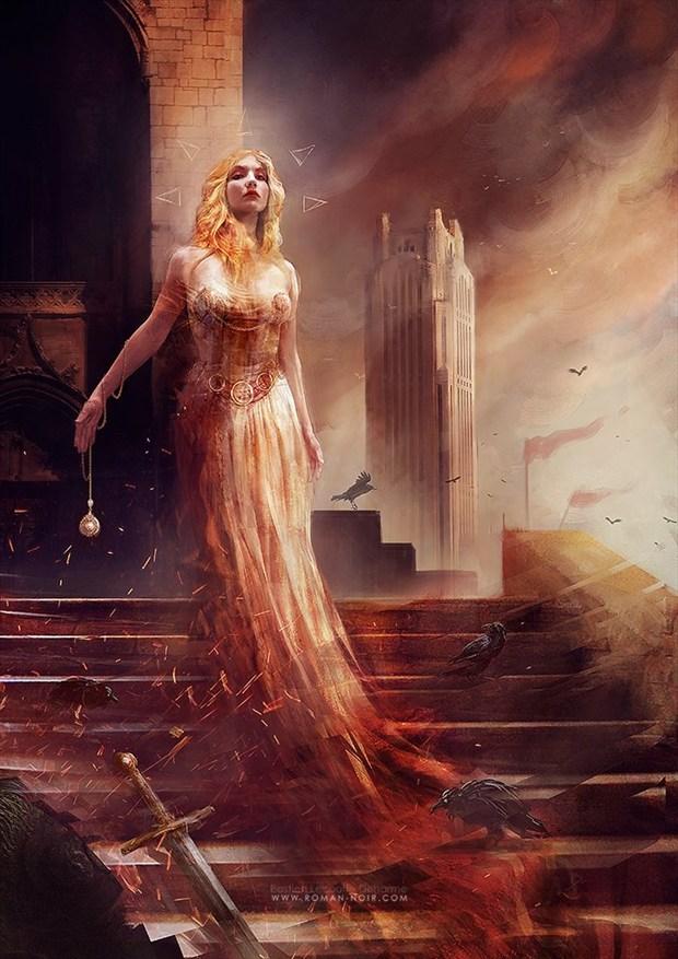 Helen of Troy Digital Artwork by Model Satya