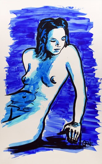 Her Other Thoughts Artistic Nude Artwork by Artist artistGENE