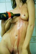 Her With a bottle of Wine Artistic Nude Photo by Photographer Bmorrisphoto