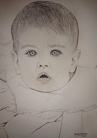 Hera Portrait Artwork by Artist Manolis Kastrinakis