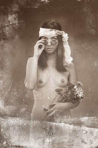 Hippie Chick Artistic Nude Photo by Photographer Pat Berrett