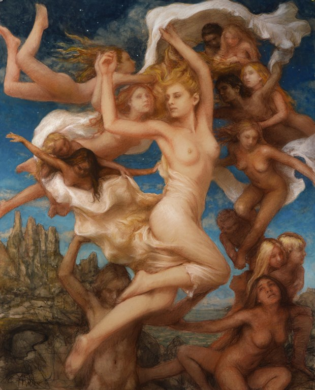 Holding a Dream Artistic Nude Artwork by Artist Matthew Joseph Peak