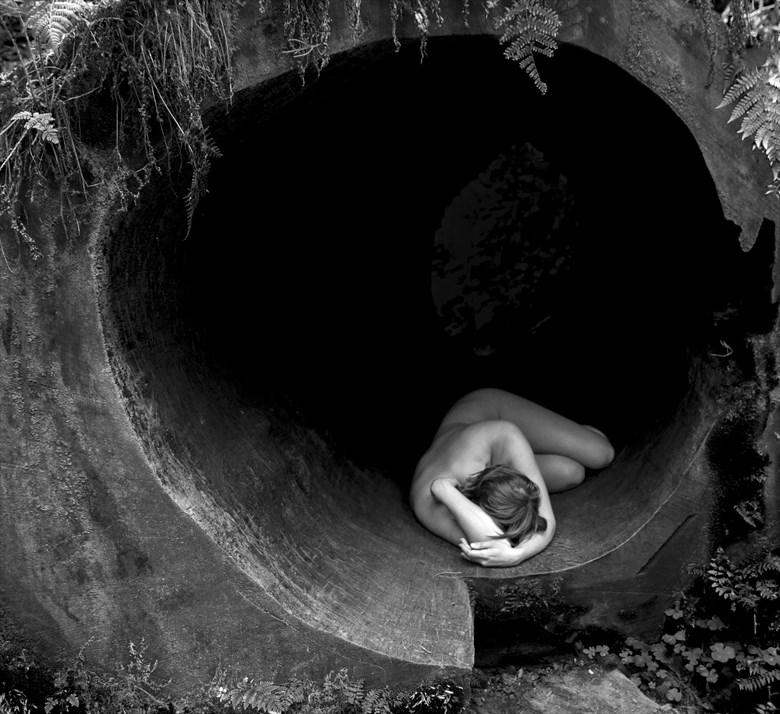 Hollow Log Figure Study Photo by Photographer Eric Lowenberg