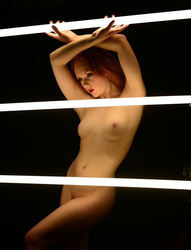 Holly Neon Artistic Nude Photo by Photographer jon daly