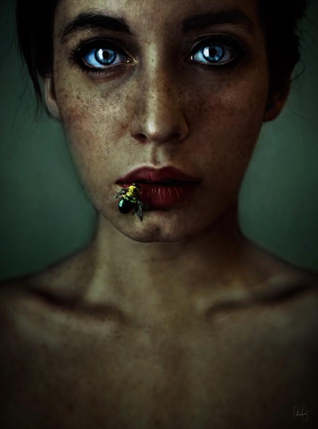 Honey lips Horror Artwork by Photographer L%C3%ADdia Vives