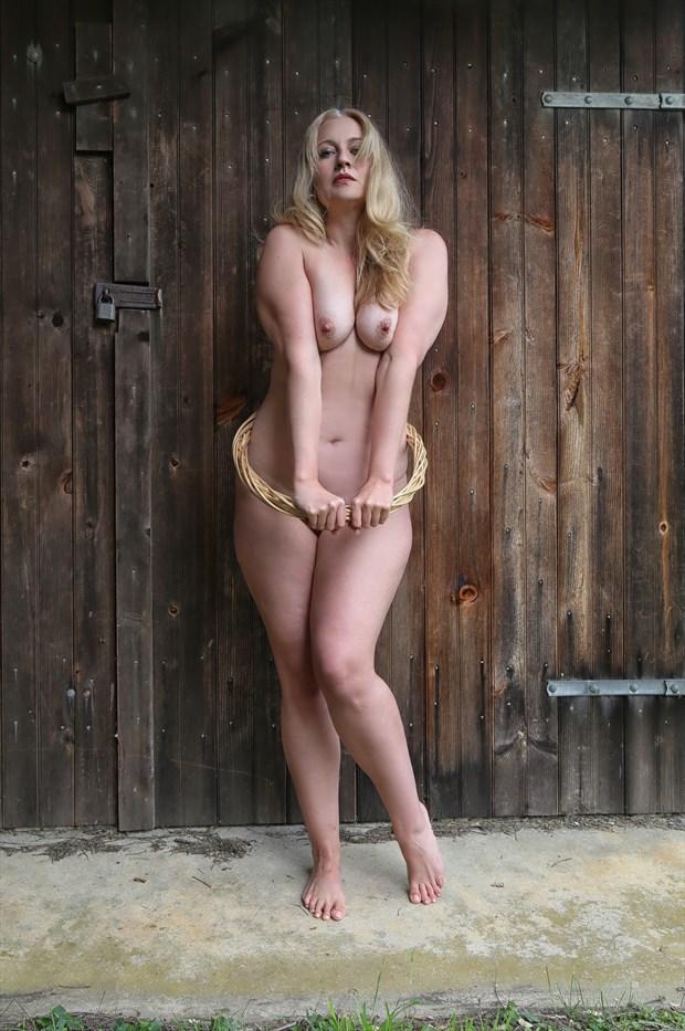 Hula hoop Artistic Nude Artwork by Model Essence of Cassie