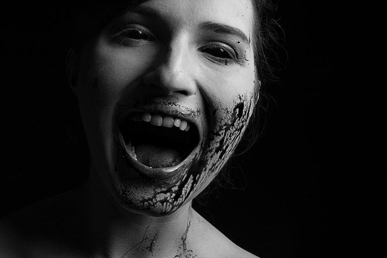 Hungry Body Painting Photo by Model Becca Bee