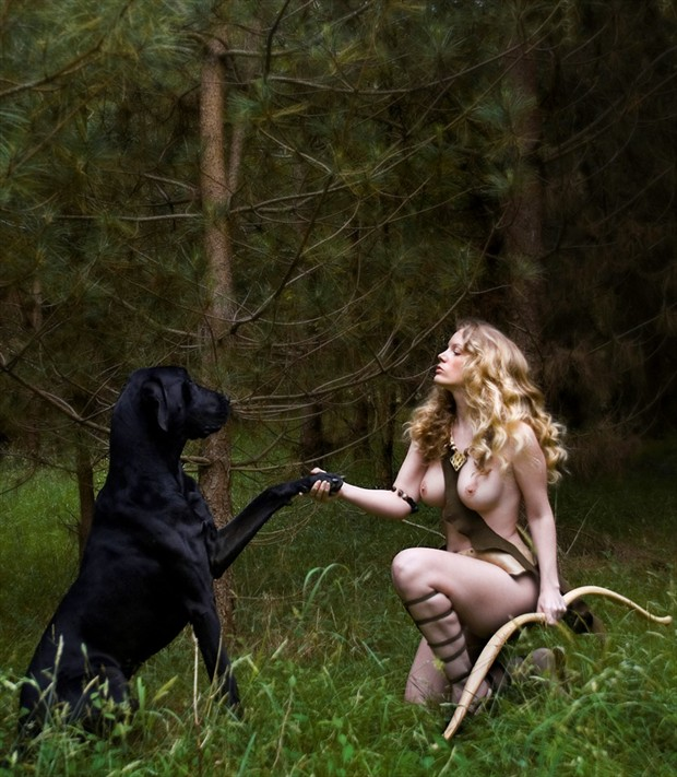 Huntress Artistic Nude Photo by Model Muse