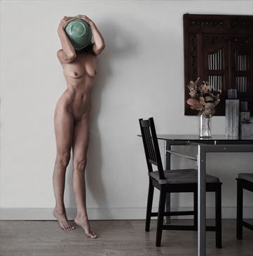 I don't want to face it yet Artistic Nude Photo by Model Ilse Peters