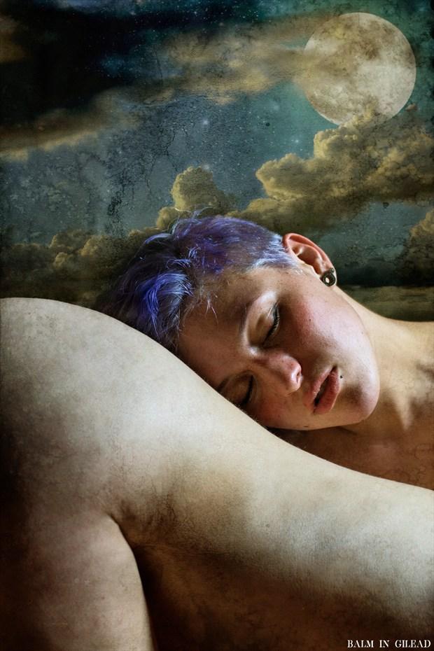 I lay me down to sleep Close Up Photo by Model Amanda Morales