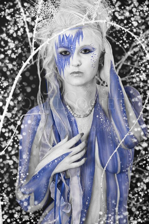 ICE QUEEN I Fantasy Artwork by Artist Bodypaint D%C3%BCsterwald