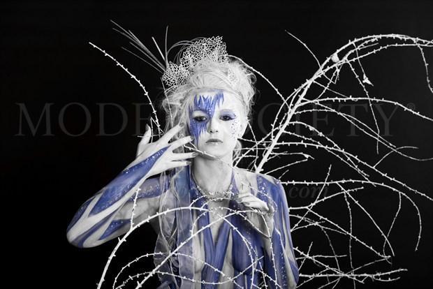 ICE QUEEN II Fantasy Artwork by Artist Bodypaint D%C3%BCsterwald
