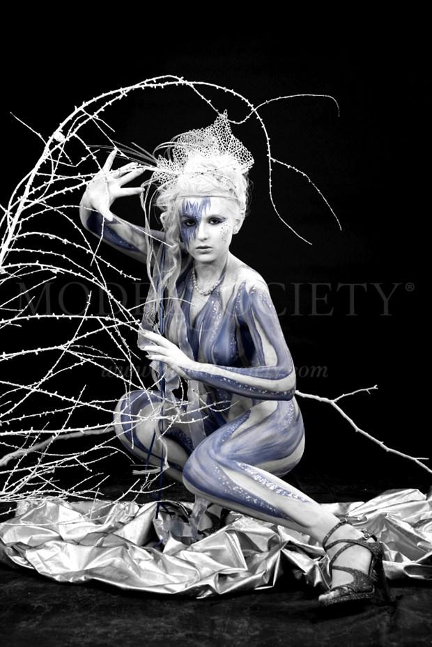 ICE QUEEN III Fantasy Artwork by Artist Bodypaint D%C3%BCsterwald