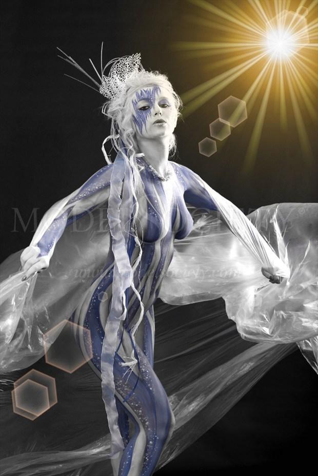 ICE QUEEN V Fantasy Artwork by Artist Bodypaint D%C3%BCsterwald
