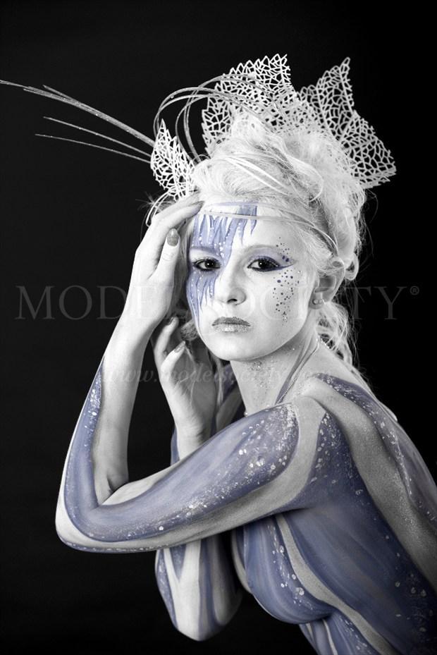 ICE QUEEN VIII Fantasy Artwork by Artist Bodypaint D%C3%BCsterwald