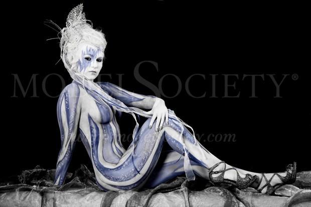 ICE QUEEN XIII Fantasy Artwork by Artist Bodypaint D%C3%BCsterwald