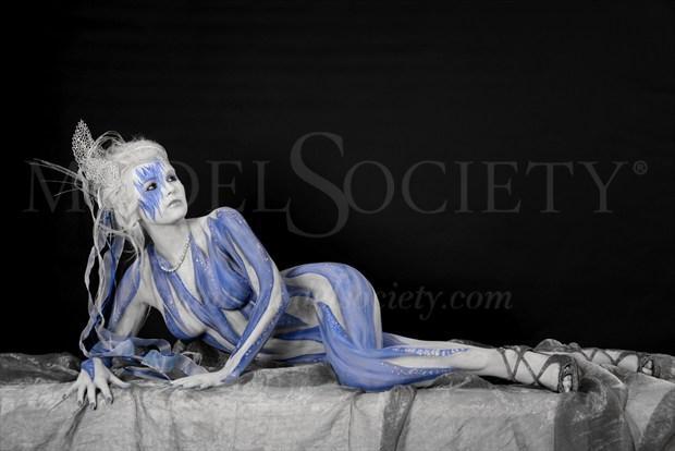 ICE QUEEN XIV Fantasy Artwork by Artist Bodypaint D%C3%BCsterwald