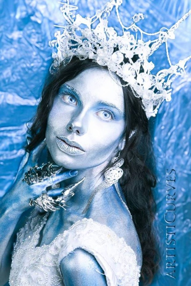 Ice Queen  Artistic Nude Photo by Model Hilary Joy