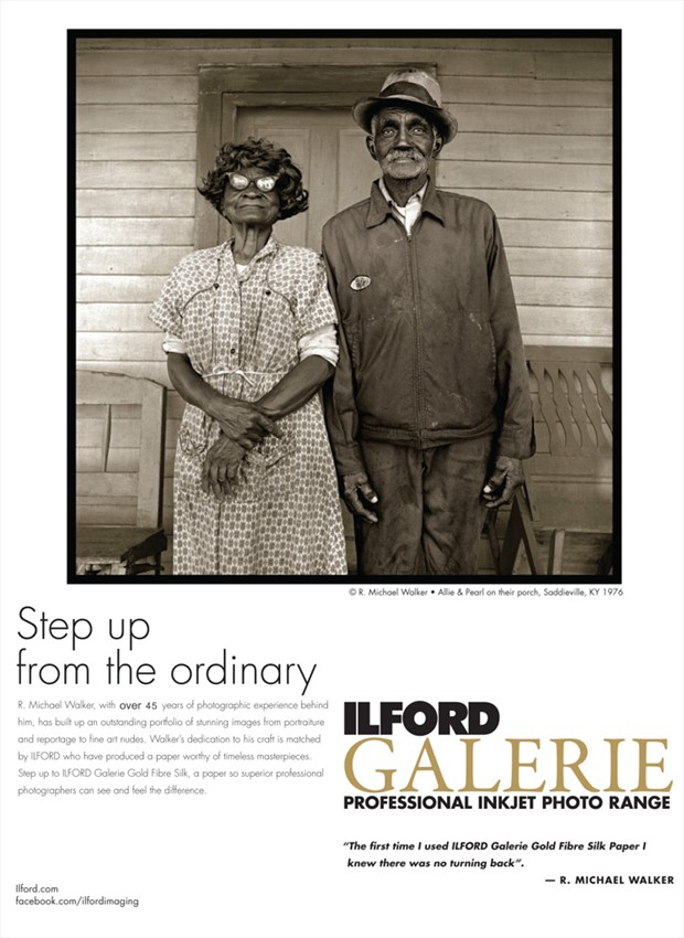 Ilford Ad using my work. Couples Photo by Photographer R. Michael Walker