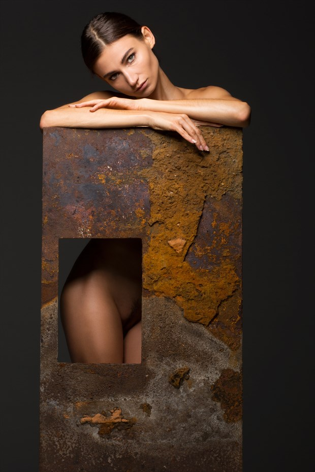 Ilvy in textures 1 Artistic Nude Artwork by Photographer BenErnst