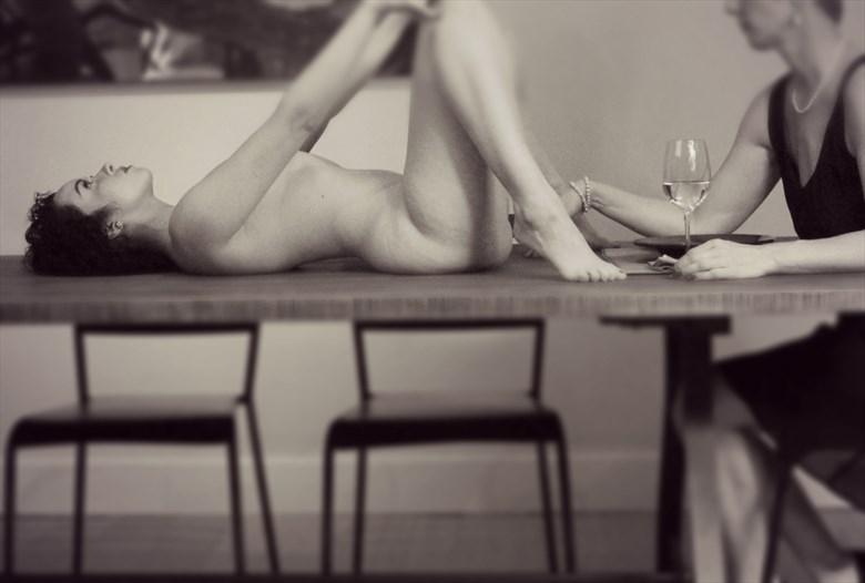 Implied Nude Artwork by Model Jennifer Evie