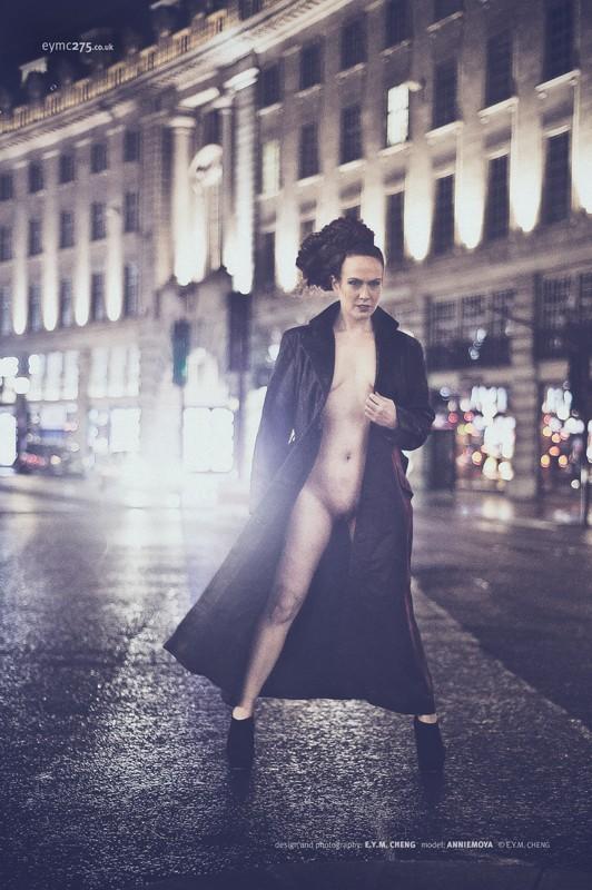 Implied Nude Expressive Portrait Photo by Model AnnieMoya