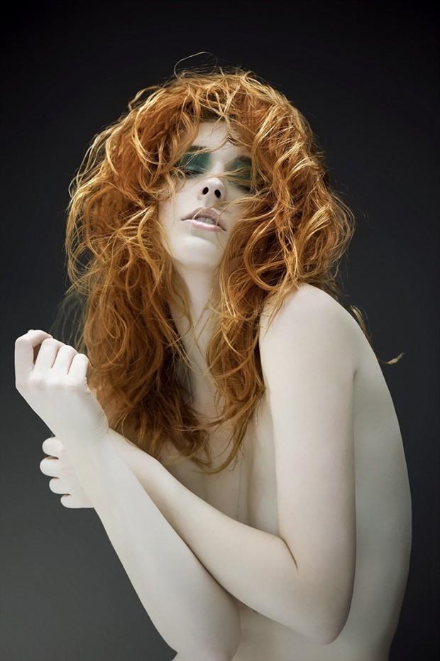 Implied Nude Expressive Portrait Photo by Model Dane Halo