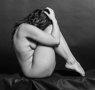 Implied Nude Figure Study Artwork by Model Sura_Model