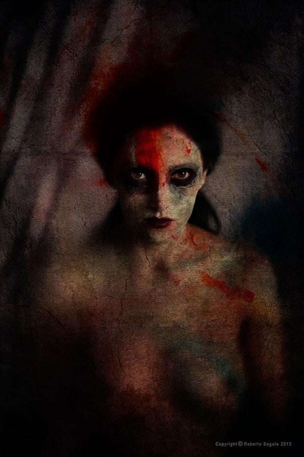Implied Nude Horror Photo by Model Becca