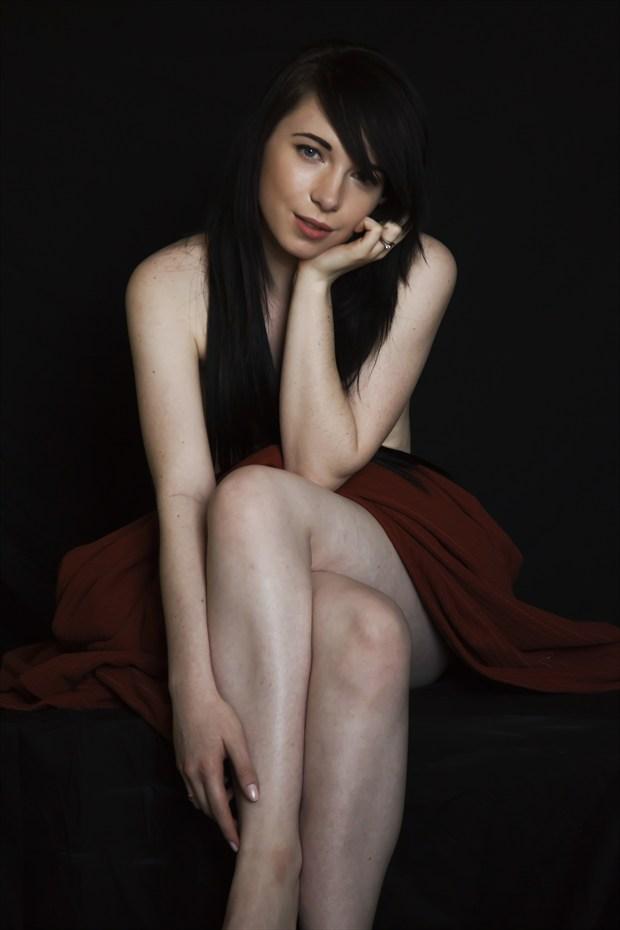 Implied Nude Portrait Artwork by Model Morgan Elizabeth