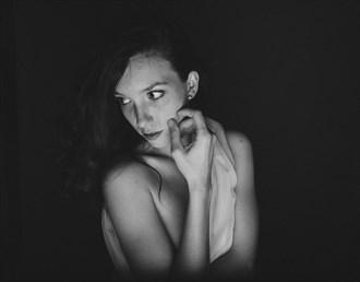 Implied Nude Portrait Photo by Model Caitlin Ciara