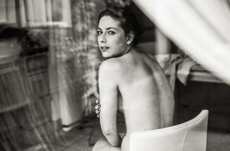 Implied Nude Portrait Photo by Model Sarah Rae