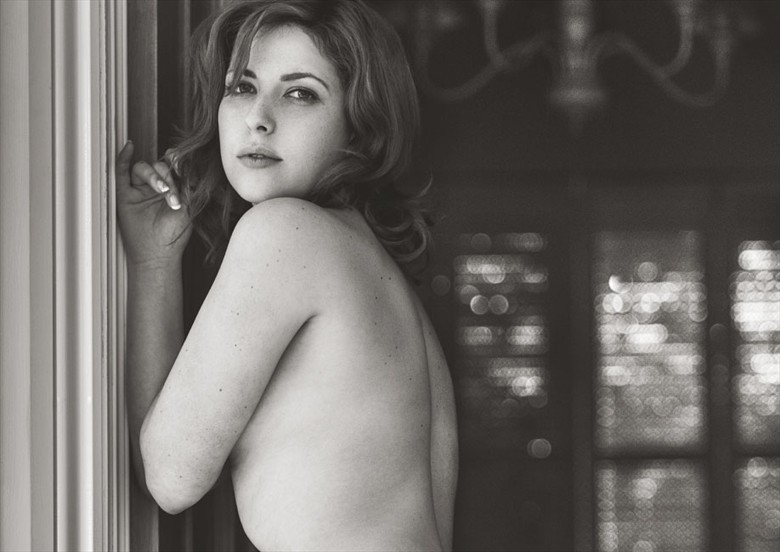 Implied Nude Portrait Photo by Model Sarah Rae