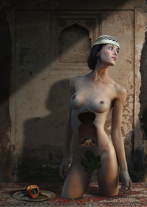 In Dolce Attesa Artistic Nude Artwork by Artist Contesaia