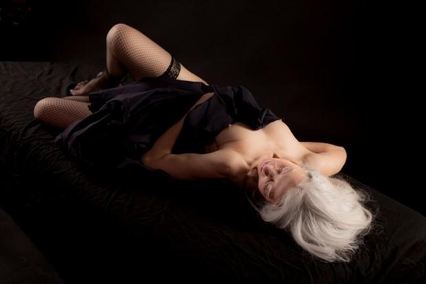 In black Artistic Nude Photo by Model AlexB